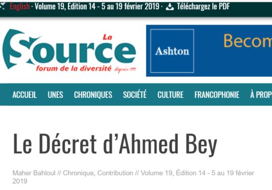 Le Décret d'Ahmed Bey